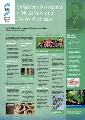 Infections associated with leisure and sports activities